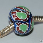 Millefiori beads fit Pandora Jewelry P0008, sold per 10 beads