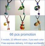 Promotion A: Lot of 66 pcs assorted colors aroma necklace