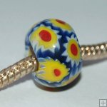 Millefiori beads fit Pandora Jewelry P0017,sold per 10 beads