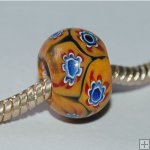 Millefiori beads fit Pandora Jewelry P0016,sold per 10 beads